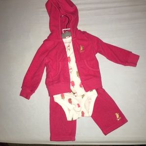 Juicy Couture baby girl velour suit 3-6 months